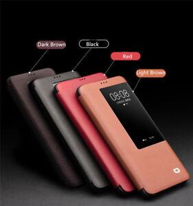 QIALINO-Echt-Leder-Smart-View-Schutzhuelle-Flip-Case-Cover-Fuer-Huawei-Mate-20-Pro