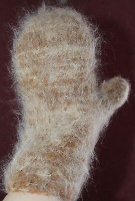 new winter Men/'s MITTENS goat down HOME KNITTED RUSSIAN Casual warm