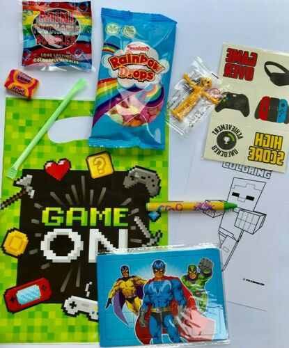 girls toys and sweets boys Game on party bags xbox ps3 style pre filled
