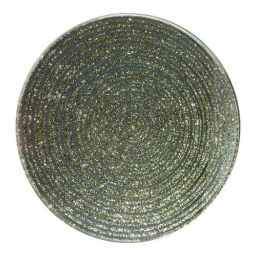 10 cm Kerze Tellerhalter Gold Glitter Silber Spiegel Edelstein Glas
