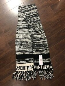 f8bd5e86 Details about Ladies Touch By Alyssa Milano Carolina Panthers Scarf Black  White Knit Moto NFL