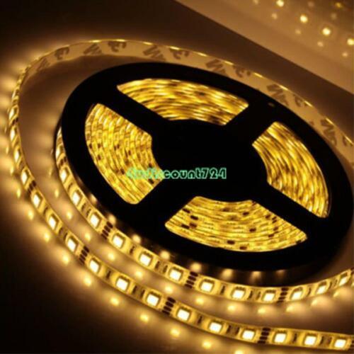 5m Super Bright 12V 2A 3528 SMD Led Flexible Strip Home Decoration Light US Plug