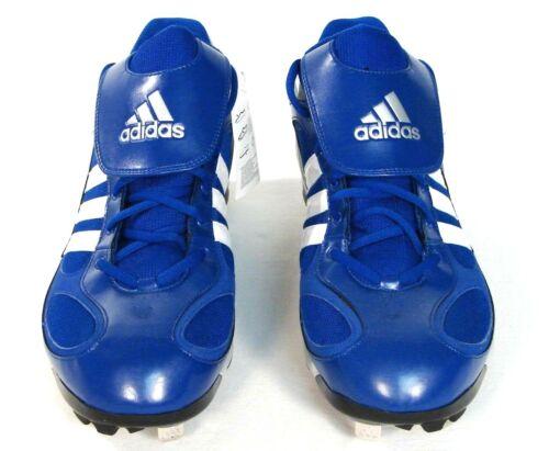 104e1c48415e 2 of 4 Adidas Diamond King Metal Baseball Cleats Shoes Softball Blue   White  Men s NEW