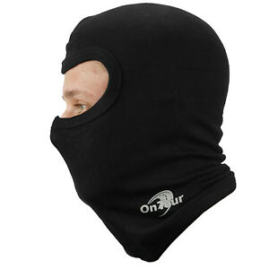 OnTour Black Thermal Bike Motorcycle Slim Fit Neck Warmer Helmet Balaclava SALE