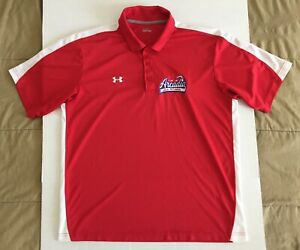 peor Sillón Imperio Inca  Under Armour Arcadia All Stars Sports Active Red Golf Polo Rugby Shirt Men  Sz XL   eBay