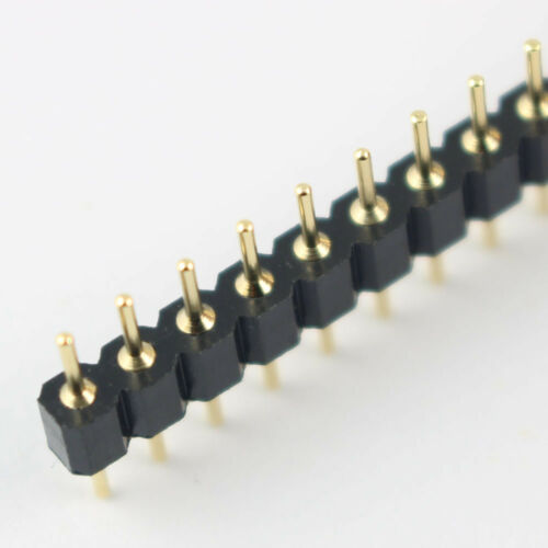 5Pcs Gold Plated 2.54mm Pitch Male 40 Pin Single Straight Round Header Strip