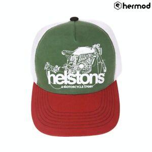 Helstons Chain Trucker Hat Cap - Red/White/Green