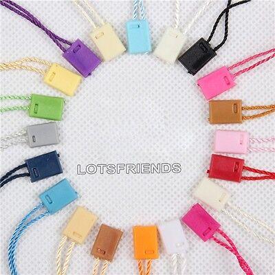 Lots 1000pcs Hang Tag String plastic Snap Lock Pin Loop Fastener Hook Ties 18cm