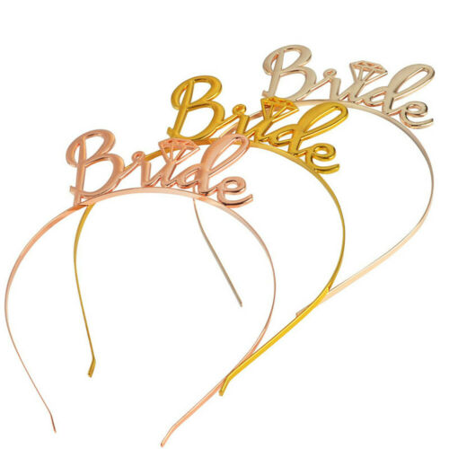 1X Girls Bride Bridesmaid Tiara Crown Bachelorette Hen Party Bride To Be Wedding