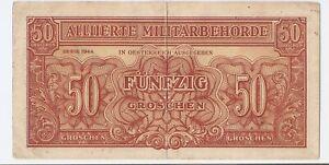 1944 FREE SHIPPING 50 funfzig groschen ALLIED OCCUPATION OF AUSTRIA