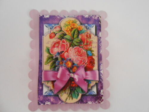 PK 2 FLORIBUNDA FLOWER EMBELLISHMENT TOPPERS GREAT FOR  CARDS /& CRAFTS