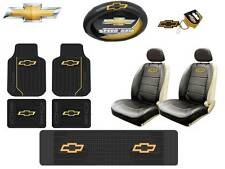 11Pc Chevrolet Elite Seat Covers & Steering Cover & Front/ Rear/ 3rd Floor Mats