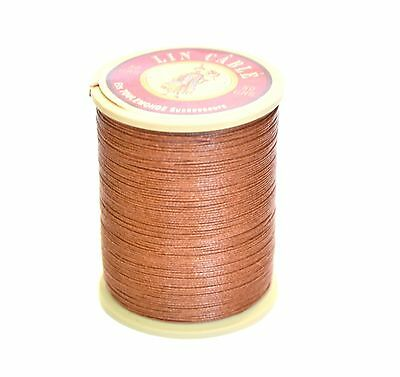"New Sajou Fil au Chinois ""Lin Cable"" Waxed Linen Thread - 276 (Brown) 5 sizes"