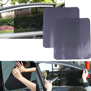 2Pcs Car large side window mesh film windshield net sun shade stickers 72 52cm