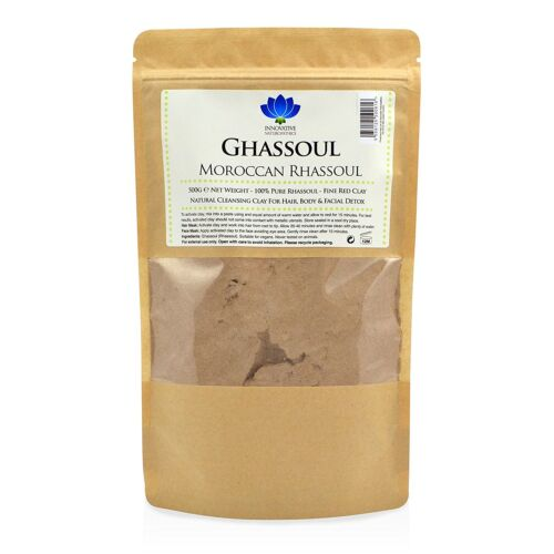 Rhassoul Ghassoul Clay Powder for Face Mask, Skin or Hair Moroccan 500g