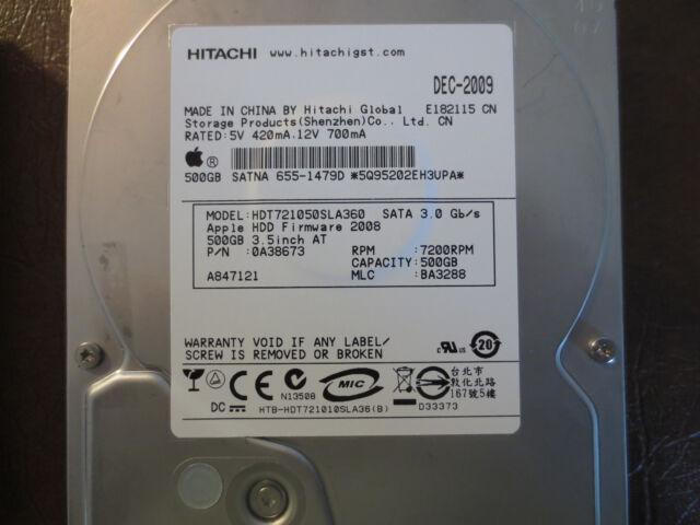 """Hitachi HDT721050SLA360 3.5/"""" SATA 500 GB 7200 RPM Tested"""