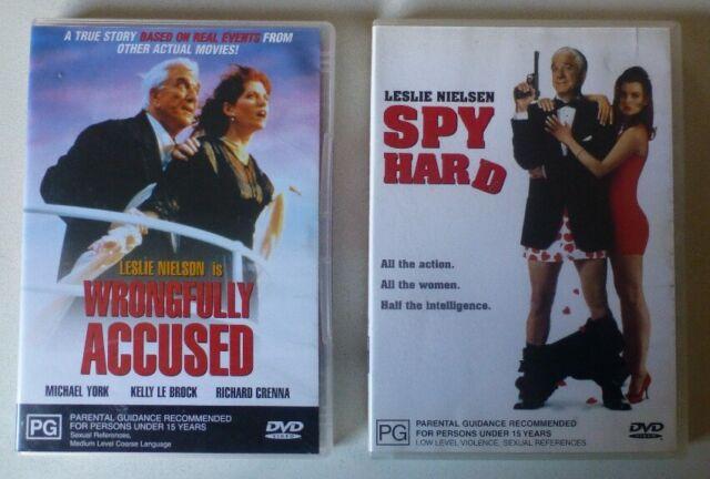 WRONGFULLY ACCUSED + SPY HARD dvd set RARE leslie nielson REGION 4 comedy spoof