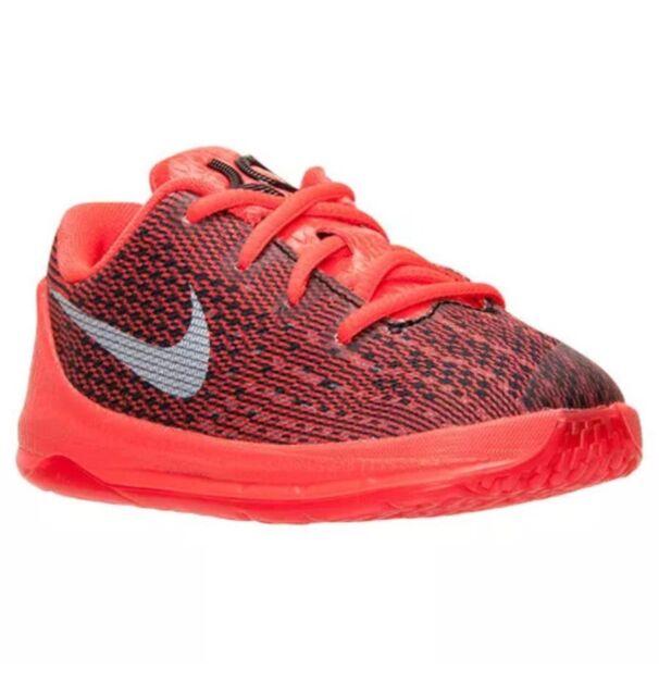 09465dfe8b65 NEW Nike Toddlers KD 8 VIII TD V8 Bright Crimson Basketball Shoes  768869-610 6C