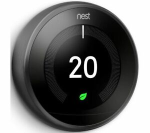 GOOGLE Nest Learning Thermostat - 3rd Generation Black - Currys
