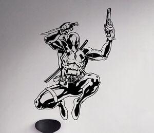 Deadpool Wall Decal Antihero Vinyl Sticker Marvel Comics Art Decor