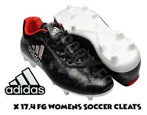 adidas X 17.4 FG Soccer Cleats   Spikes Black Silver Women s Size 10 ... de32f4e9b1
