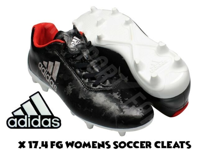 4fb8c0351 adidas X 17.4 FG Soccer Cleats / Spikes Black/Silver Women's Size 10 New w