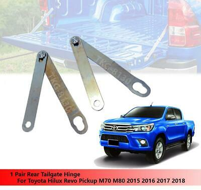 Chrome Rear Trunk Tailgate Door Handle Cover 2pc For Toyota Hilux Revo 2016-2018