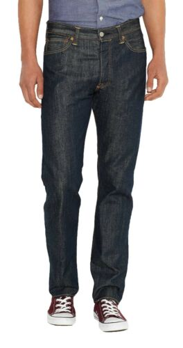 Man originale Levis Indigo Denim 501 Jeans Straight Leg Marlon Blue ARgqU