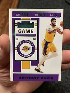 2019-20 Panini Contenders Game Ticket Green Parallel Anthony Davis #7 LA - QTY