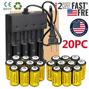 Lot CR123A Rechargeable 3.7V Li-Ion Batteries for Netgear Arlo Security Camera