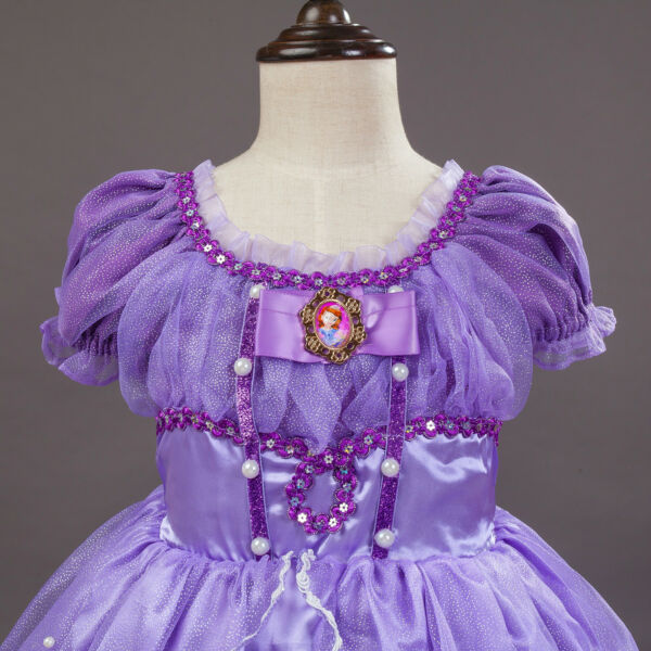 2018 Kids Gorgeous Sofia The First Costume Girls Princess Dress Gown ...