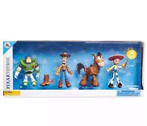 Disney Store Toy Story - Ensemble de boîtes à jouets Pixar 4 Buzz Woody Jessie Bullseye Nouveau 2018