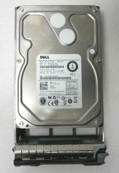 """Dell//Toshiba 07KXJR 3.5/"""" 1TB 7.2k RPM 6.0gbs SAS Hard Drive w// Tray MK1001TRKB"""