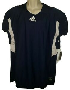 Details about New Adidas Techfit Hyped Football Jersey Men's Size 3XL Navy Blue & White $80