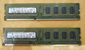 4-Go-SAMSUNG-veritable-2x-2-Go-Paire-Memoire-RAM-DDR3-1RX8-PC3-10600U-pour-ordinateur-de-bureau