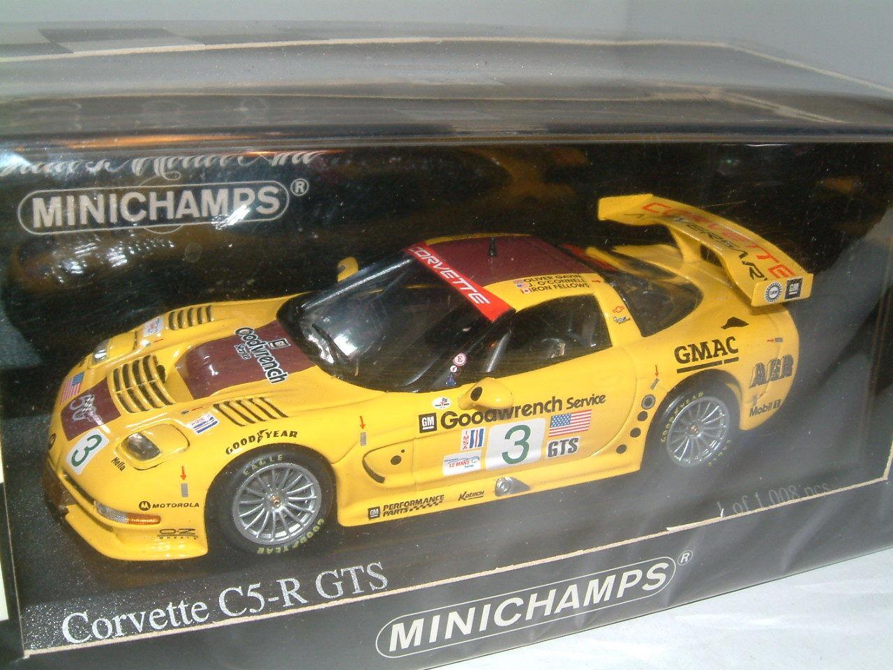 1 43 MINICHAMPS CHEVROLET CORVETTE C5-R GTS ,ALMS PETIT LE MANS 2002