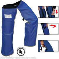 Chainsaw Safety Protective Chaps Blue All Zipper Style Chainsaw Chap