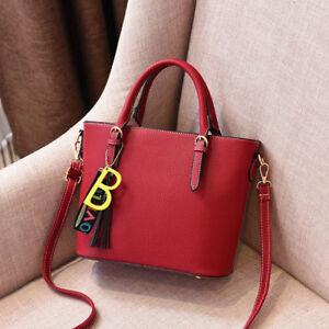 Simil Baule Pelle 2420 Donna Grande Borsa Elegante Manici Rosso Tracolla xUaqWSwg6T