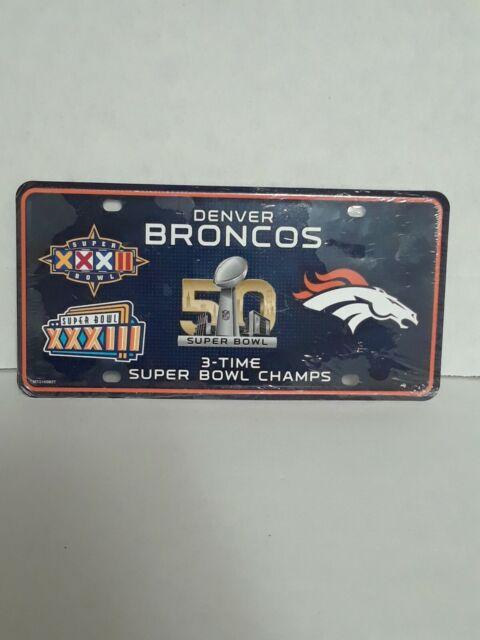 Oakland Raiders 3X Super Bowl Champions Aluminum License Plate Tag Football