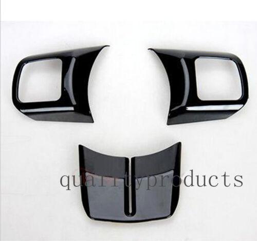 Black Steering Wheel Trim Interior Car Door Handle Cover fits Jeep Wrangler JK
