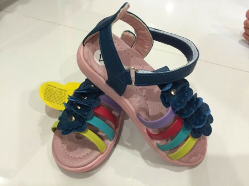 New Girls Kids BABYGladiator Strappy Floral Flat Sandals Shoes SIZE 5-9