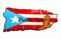 Puerto Rico Home Decorative Souvenirs Keychain Wall Holder ( Boricua & Rican )
