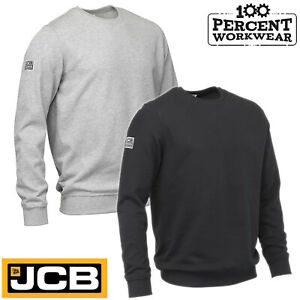 JCB-Work-Wear-Tradesman-Crew-Neck-Sweatshirt-Jumper-Plain-Trade-Uniform-Quality