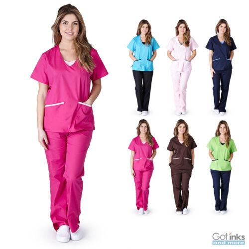 Unisex Men//Women Cargo Scrub Pants Petite Size Medical Hospital Nursing Uniform
