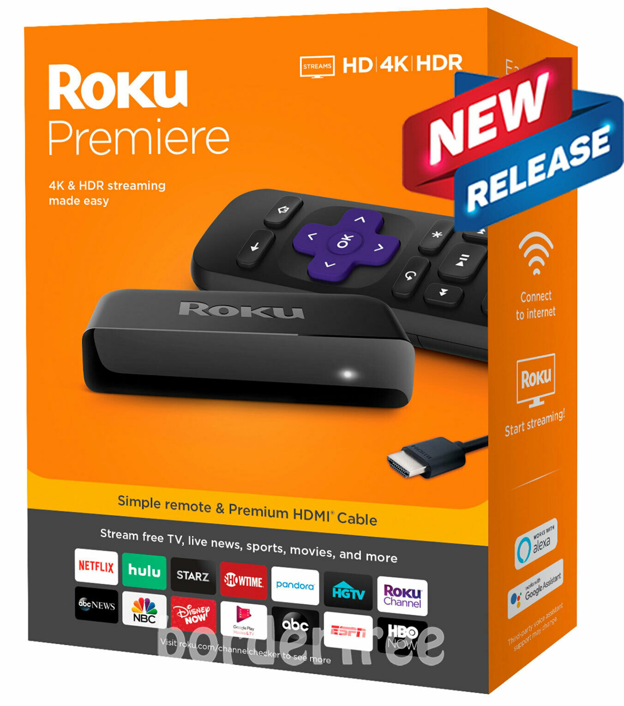 borderfree Roku - Premiere 4K Streaming Media Player - NEW RELEASE (3920R)