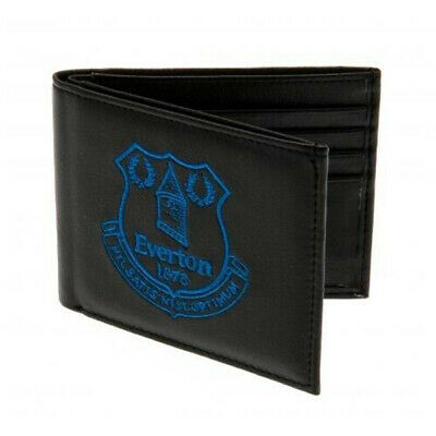 Official Everton Football Club Crest Embroidered Leather Wallet Man Purse Gift