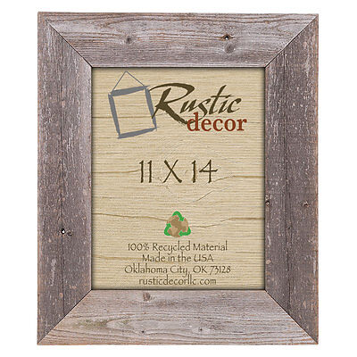 "8x10 –3.5/"" Extra Wide Reclaimed Rustic Barn Wood Wall Frame"