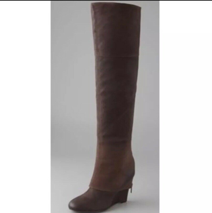 ✨Ash Pearl Over The  Knee Stiefel With Zips✨