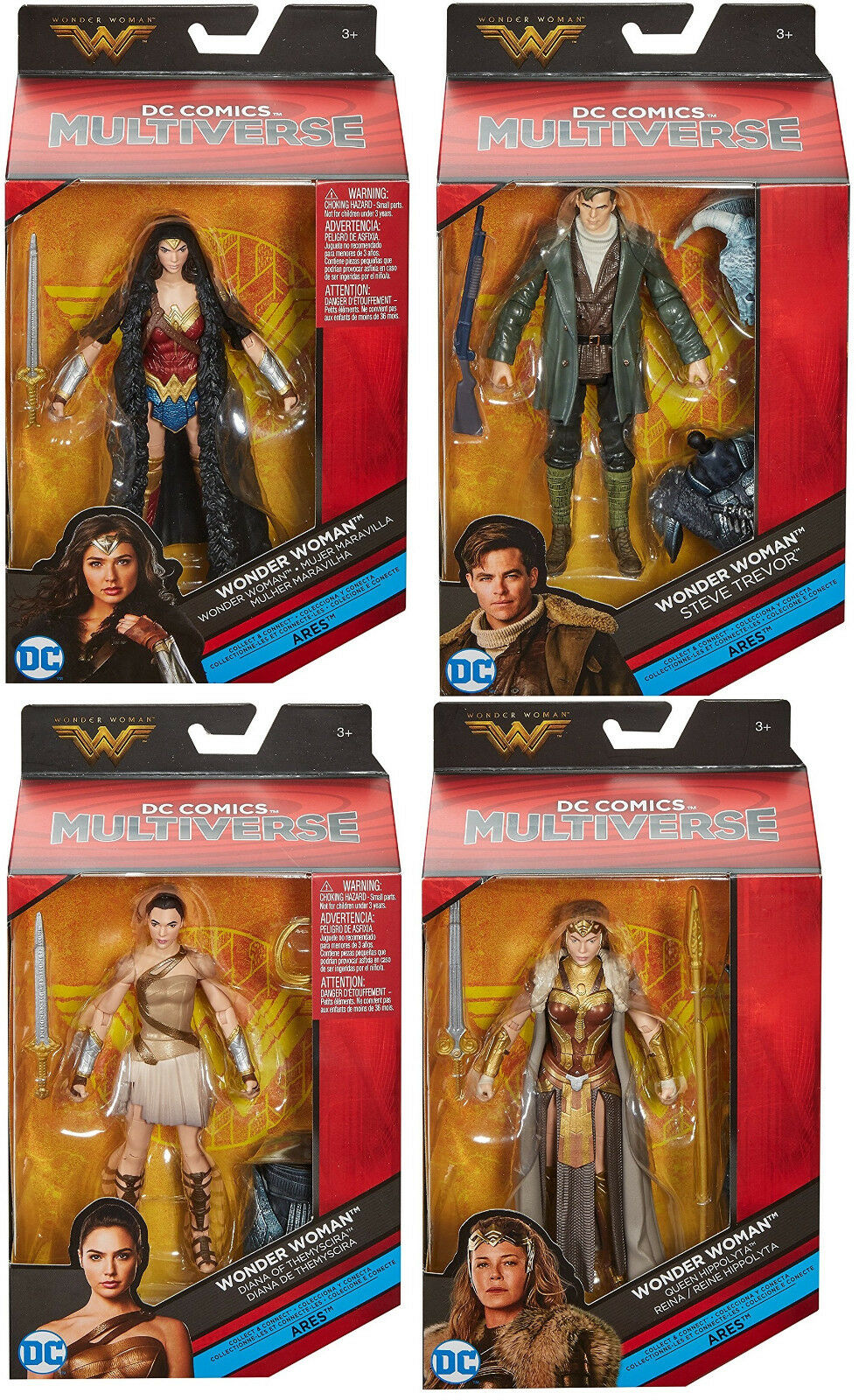 DC Multiverse Wonder Woman Movie 6-Inch SET OF 4 Action Figures NEW