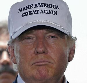 Image result for trump in make america great again hat, photos